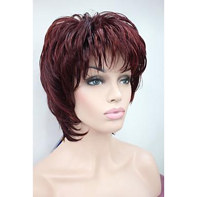 Synthetische Perücken Wellen Damen Kappenlos Karnevalsperücke Halloween Perücke Synthetische Haare