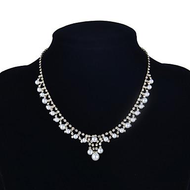 Bijoux Colliers Déclaration Mariage / Soirée / Quotidien / Décontracté / Sports Perle / Cuivre / Strass 1pc Femme Cadeaux de mariage