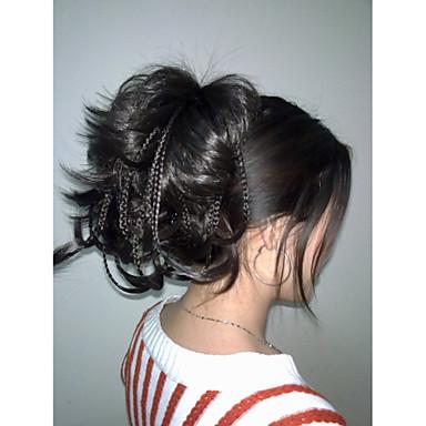 Clip-in Paardenstaart Synthetisch haar Haar stuk Haarextensies Recht
