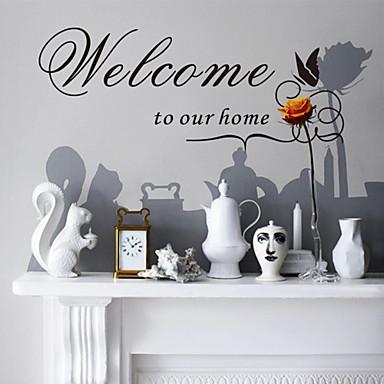 stickers muraux, stickers muraux de style accueillir dans notre maison papillon mots anglais&cite muraux PVC autocollants
