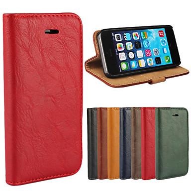 Uyumluluk iPhone 8 iPhone 8 Plus iPhone 5 Kılıf Kılıflar Kapaklar Cüzdan Kart Tutucu Satandlı Flip Tam Kaplama Pouzdro Tek Renk Sert