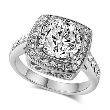 Prstenje sa stavom Kristal imitacija Diamond Legura Moda luksuzni nakit Pink Zlatan Jewelry Vjenčanje Party 1pc
