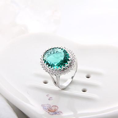 Γυναικεία Δακτύλιος Δήλωσης - Ζιρκονίτης, Cubic Zirconia, Προσομειωμένο διαμάντι Βυσσινί, Πράσινο, Μπλε