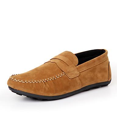 Férfi cipő Bőrutánzat Tavasz Nyár Ősz Tél Kényelmes Kompatibilitás Hétköznapi Fekete Sötétkék Sárga