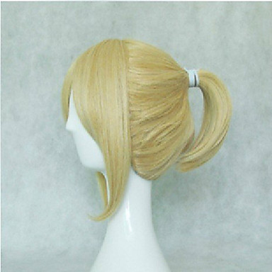 Woman's Synthetic Hair Wig Short Straight  Natural Animated Wig Blonde Cosplay Wigs Party Wig