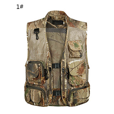 cheap Waders, Fishing Clothing-Unisex Outdoor High Breathability (>15,001g) Back Pocket Shockproof Vest / Gilet Top Spring Summer Cotton Mesh Sleeveless Fishing