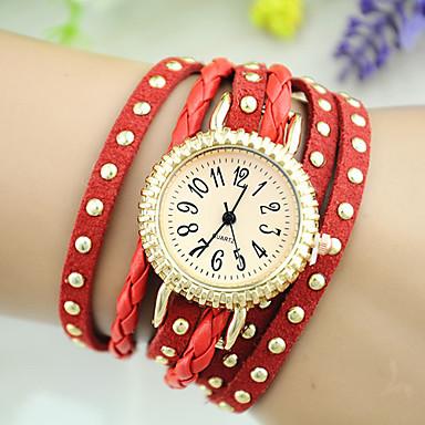 Kadın's Moda Saat Çince Płytka Diğer Bant Bilezik Saat Siyah / Beyaz / Mavi