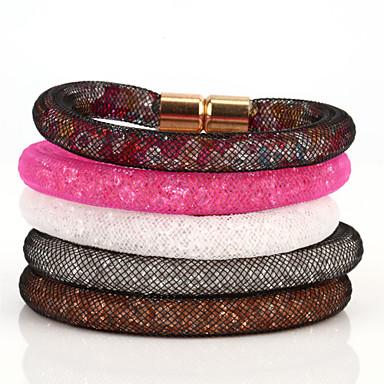 Damskie Bransoletki i łańcuszki na rękę Bransoletki w stylu vintage Kolorowy Kryształ górski Imitacja diamentu Stop Circle Shape Biżuteria