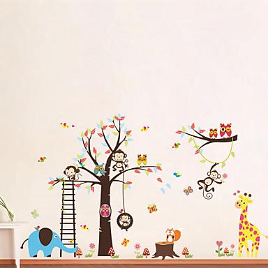 Dyr Tegneserie Veggklistremerker Fly vægklistermærker Dekorative Mur Klistermærker, Vinyl Hjem Dekor Veggoverføringsbilde Vegg