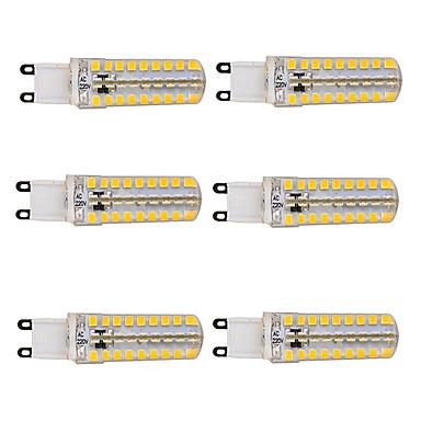 5.5W G9 LED kukorica izzók T 72 led SMD 2835 Tompítható Meleg fehér Hideg fehér 450-500lm 2800-3000/6000-6500K AC 220-240V
