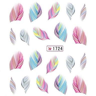 1 pcs 3D Negle Stickers Vannoverføringsklistre Neglekunst Manikyr pedikyr Smuk Tegneserie / Mote Daglig / 3D Nail Stickers
