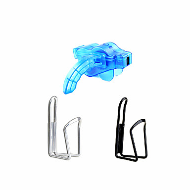 Cyling Bike Water Bottle Cage(2-Pack) & Portable Bicycle Chain Cleaning Machine Sets- Random color
