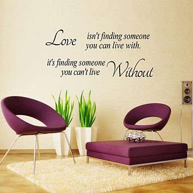 Wall Stickers Wall Decals, Style English Love Isn't Finding PVC Wall Stickers