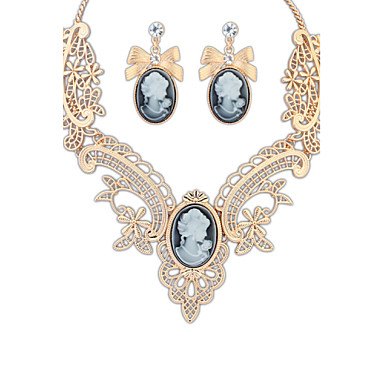 Crystal Wedding Special Occasion Anniversary Birthday Engagement Gift Daily Alloy Earrings Necklaces