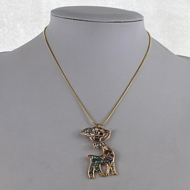 Fashion Crystal/Alloy/Rhinestone Necklace Deer Pendant Necklaces Daily/Casual