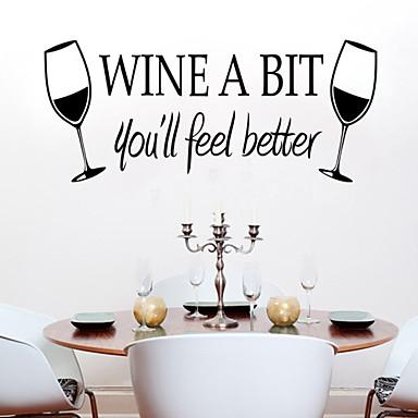 falimatrica fali matricák, stílusa az új bor pohár pvc falimatrica