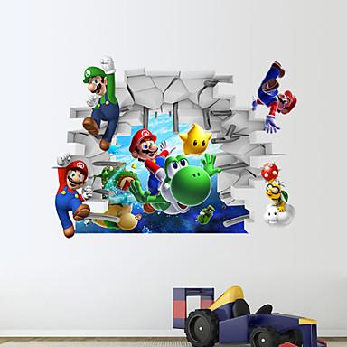 Мультипликация 3D Наклейки 3D наклейки Декоративные наклейки на стены материал Съемная Украшение дома Наклейка на стену