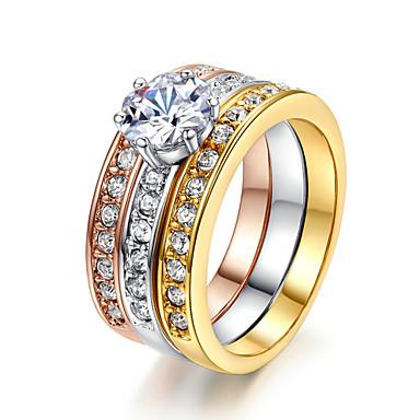 בגדי ריקוד נשים קריסטל טבעת הצהרה - יהלום מדומה, סגסוגת