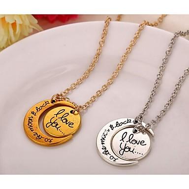 Alloy Necklace Pendant Necklaces Party/Sports 1pc(Random Color)