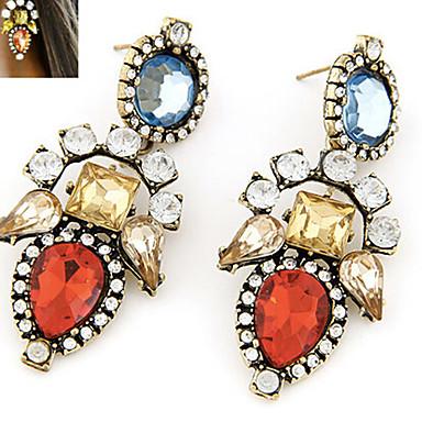Kadın Vidali Küpeler İfade Takıları Sentetik Taşlar Yapay Elmas alaşım Mücevher Uyumluluk