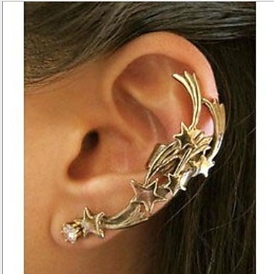 Women's Ear Cuffs Fashion European Punk Alloy Jewelry Silver Bronze Wedding Party Daily Casual Costume Jewelry