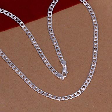 Herrn Damen versilbert Ketten  -  Modisch Silber Modische Halsketten Für Hochzeit Party Alltag