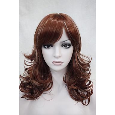 Парики из искусственных волос Волнистый Жен. Без шапочки-основы Искусственные волосы