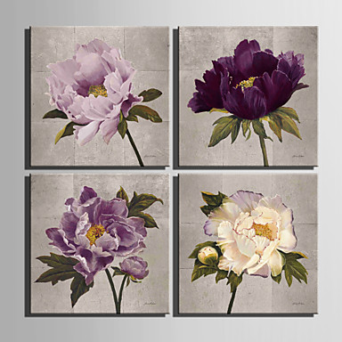 Stretched Canvas Print Botanical Square Print Wall Decor Home Decoration