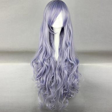 Synthetische Perücken Wogende Wellen Synthetische Haare Lila Perücke Damen Lang