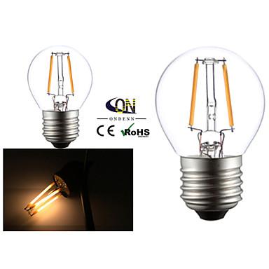 2개 ONDENN E26/E27 2 COB 200 LM 따뜻한 화이트 G45 edison 빈티지 LED필라멘트 전구 AC 220-240 / AC 110-130 V