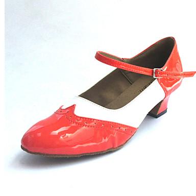 Herrn / Damen Swing Schuhe Kunstleder Absätze Blockabsatz Maßfertigung Tanzschuhe Schwarz und Rot / Blau / Orange