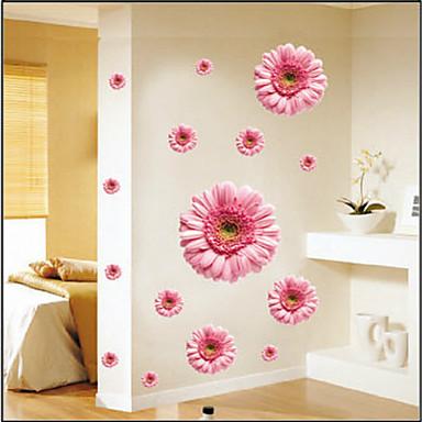 Цветочные мотивы/ботанический Наклейки Простые наклейки Декоративные наклейки на стены,Винил Украшение дома Наклейка на стену Стена