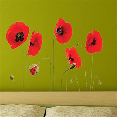 Landschaft Blumen Botanisch Wand-Sticker Flugzeug-Wand Sticker Dekorative Wand Sticker, Vinyl Haus Dekoration Wandtattoo Wand