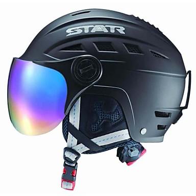 STAR® 헬멧 남여 공용 눈 스포츠 헬멧 구글과 헬멧 / 하프 쉘 스포츠 헬멧 화이트 / 레드 / 그레이 / 블랙 / 라이트 블루 눈 헬멧 ASTM / CE EPS / ABS스노우 스포츠 / 스키 / 스노우보딩 / 다운힐 / 아이스 스케이트 /