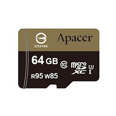 Apacer의 64 기가 바이트 메모리 카드 마이크로 SDHC UHS-I U3 CLASS10 R95 / W85
