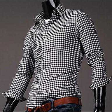 6ba0c3bf7fd4 νέα ανδρικά λεπτό καρό μόδα βαμβακερά πουκάμισα για τους άνδρες το 2015 την  άνοιξη του 10