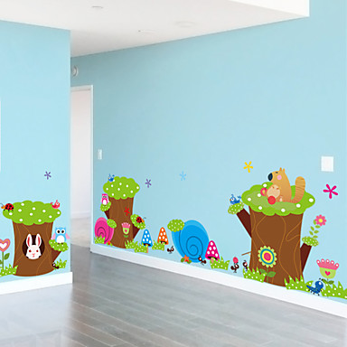 Wall Stickers Wall Decals,Cute Colorful PVC Removable the Cartoon Animal Rabbit Wall Stickers.