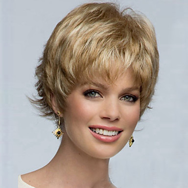 Synthetic Hair Wigs Curly Capless Carnival Wig Halloween Wig Blonde