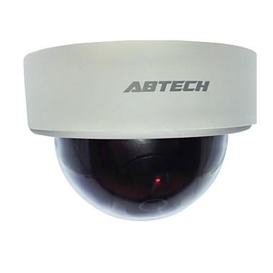 открытый / закрытый реалистичные моделируется поддельные купольной камеры безопасности с мигающий светодиод