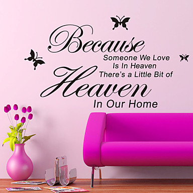 Because Someone We Love Is In Heaven Wall Decal Zooyoo8128 Decorative Removable Vinyl Wall Sticker