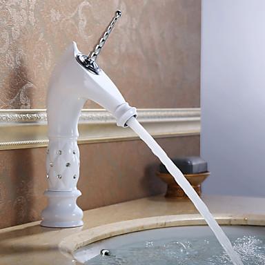 Πεπαλαιωμένο Αναμεικτικές με ενιαίες βαλβίδες Ενιαία Χειριστείτε μια τρύπα in Ζωγραφιά Μπάνιο βρύση νεροχύτη