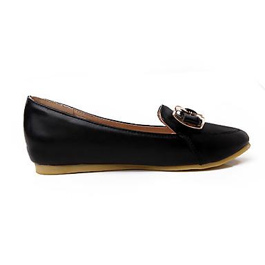 Pour Bleu Femme Printemps 03568928 Automne Similicuir Eté Blanc Talon Plat Chaussures Habillé Noir Rose CO7Crx0