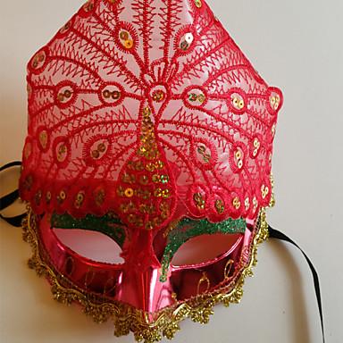 Masque Cosplay Fête / Célébration Déguisement Halloween Rouge Couleur Pleine Masque Halloween Unisexe