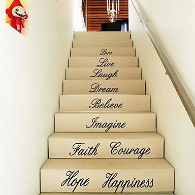 패션 Words & Quotes 벽 스티커 플레인 월스티커 데코레이티브 월 스티커, 비닐 홈 장식 벽 데칼 바닥