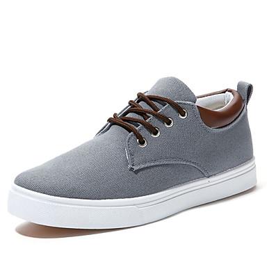 Homme Chaussures Toile Printemps Automne Chaussures Vulcanisées Confort Lacet pour Décontracté Bureau et carrière Beige Gris Bleu