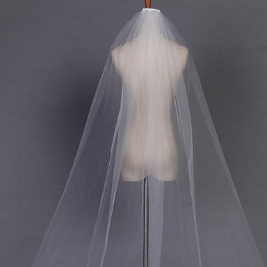 Monistyczny Krawędź Pencil Welony ślubne Welony kaplica Z 110,24 cali (280cm) Tiul