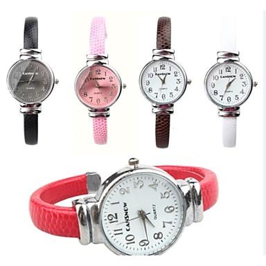 Модные часы Кварцевый PU Группа Черный Белый Красный Коричневый Розовый