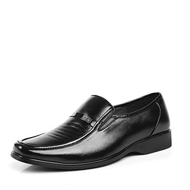 Férfi cipő Bőr Tavasz / Ősz Kényelmes Papucsok & Balerinacipők Gyalogló Fekete