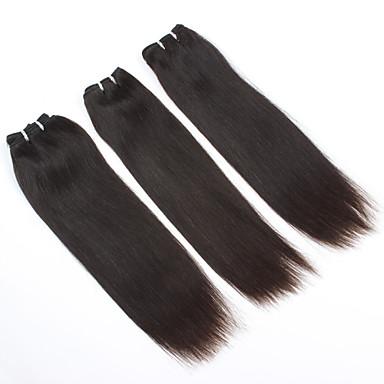 baratos Extensões de Cabelo Natural-8 '- 16' '/ 3pieces # 2 ajustado da cor do cabelo humano brasileiro do cabelo virgem tece