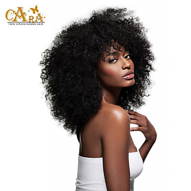 Eurasian Hair Curly Weave Afro Kinky Curly Human Hair Weaves 4 Pieces 0.4